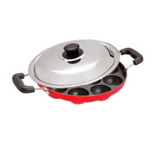 Appam Patra 12 Cavity with Handle & SS Lid