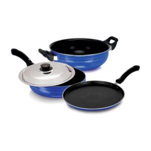 Nakshatra Non Stick Induction Base Cookware Set of 3 pcs