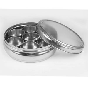 Stainless Steel Masala Container with See Through Lid