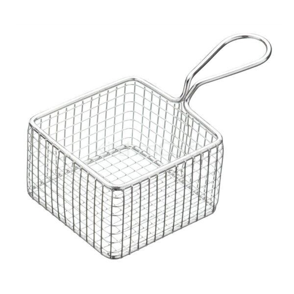 Nakshatra Stainless Steel Square Welded Basket Filter Fryer