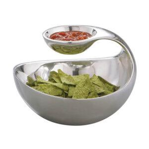 Nakshatra Stainless Steel Chip & Dip Bowl