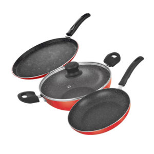 Nakshatra Non Stick Induction Base Cookware Gift Set of 4 PCS