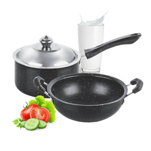 Nakshatra Non Stick Mini Cookware Set of 2PCS