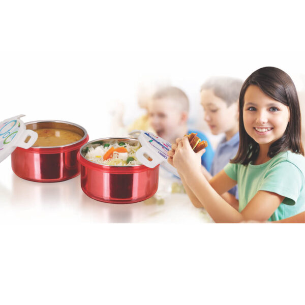 Nakshatra High Quality Stainless Steel Inner Food Grade Mini Lunch Box Container