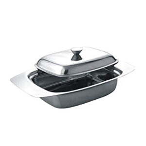 Nakshatra Stainless Steel Butter Dish With Lid Pot