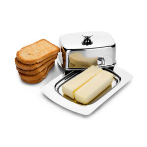Nakshatra Stainless Steel Jumbo Butter Dish With Lid Pot