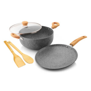 Nakshatra Non Stick Induction Base Cookware Set of 5 pcs