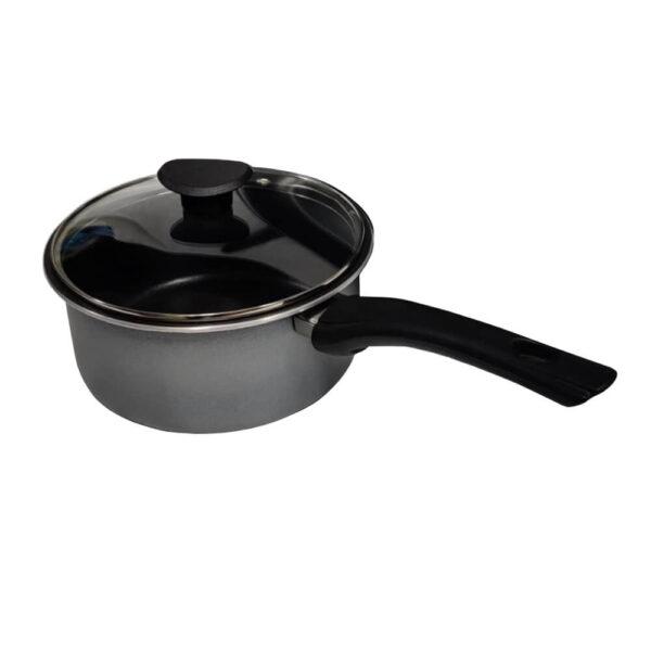 Nakshatra Non Stick Cookware Sauce Pan With Glass Lid