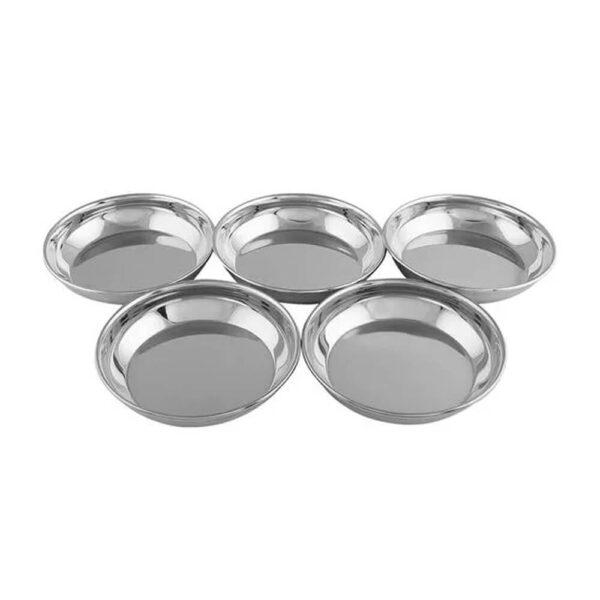 Nakshatra Stainless Steel Halwa Plate Set